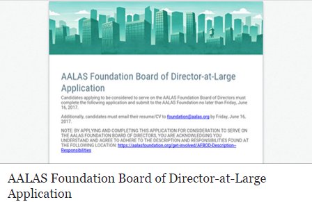 AALAS Foundation Board of Directors-at-Large Opportunity